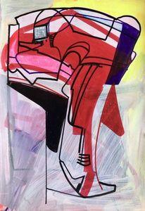 Metaphysisch, Futurismus, Acrylmalerei, Abstrakt