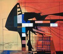 Luft, Zeitgenössisch, Metaphysisch, Acrylmalerei