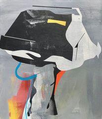 Acrylmalerei, Futurismus, Technologie, Metaphysisch