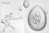 Emotion, Gefühl, Zeichnung, Menschen