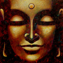 Gemälde, Ölmalerei, Buddha, Malerei
