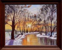 Winter, Realismus, Gemälde, Schnee