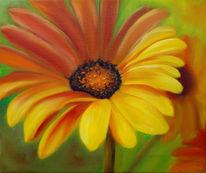 Blumen, Ölmalerei, Malerei, Gerbera