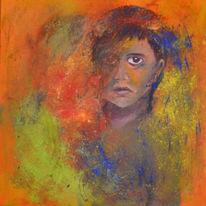 Farben, Bunt, Junge, Malerei
