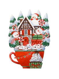Schneemann, Illustration, Frohe weihnachten, Winter illustration
