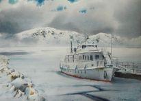 Schnee, Schiff, Landschaft, Berge