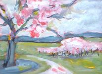 Acrylmalerei, Stillleben, Blumen, Malerei