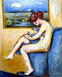 Acrylmalerei, Malerei, Akt