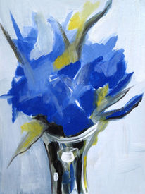 Malerei, Blumen, Stillleben, Acrylmalerei