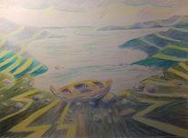 Fjord, Meer, Ruderboot, See