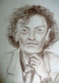 Frau, Dame, Politiker, Zeichnungen