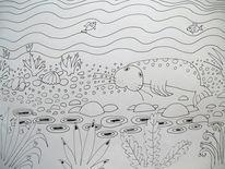 Robbe, Seehund, Heuler, Zeichnungen