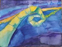 Schleife, Farben, Streifen, Aquarell