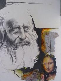 Portrait, Leonardo da vinci, Zeichnung, Zeichenkarton