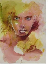 Gesicht, Aquarellmalerei, Portrait, Aquarell