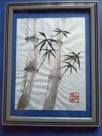 Blatt metall, Bambus, Gold, Siegel