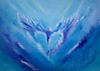 Engel, Hellblau, Schutz, Seele
