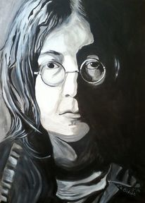 Weiß, Vorstellen, Portrait, John lennon