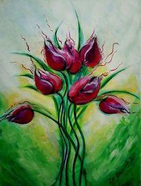Strauß, Gelb, Tulpen, Blumen