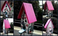 Fantasie, Grau, Schmetterling, Pink