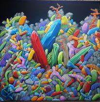 Fantasie, Ölmalerei, Chaos, Bunt