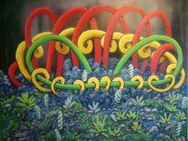 Ölmalerei, Komplexität, Fantasie, Surreal