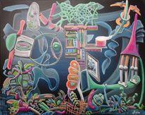Komplexität, Chaos, Intuition, Ölmalerei