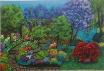 Natur, Acrylmalerei, Bunt, Pflanzen