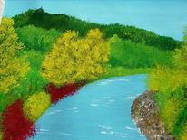 Baum, Wald, Fluss, Malerei