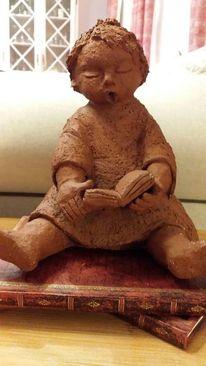 Kinderfigur, Ton, Skulptur, Plastik
