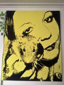 Trash, Silbern, Ratte, Portrait