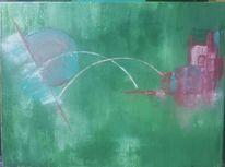 Abstrakt, Acrylmalerei, Malerei, Grün