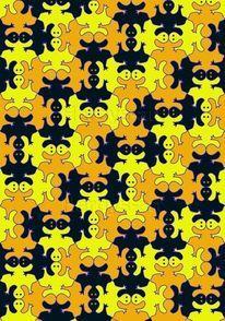 Geist, Gelb, Digital, Digitale kunst