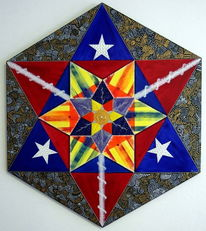Amerika, Hexagramm, Sechseck, Mandala