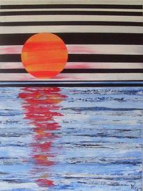 Sonnenuntergang, Meer, Malerei