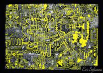 Weiß, Fantasie, Gelb, Freihand