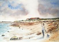 Strand, Himmel, Helgoland, Meer