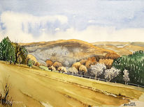 Hattingen, Aquarellmalerei, Landschaft, Aquarell