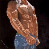 Gemälde, Körper, Braun, Mann