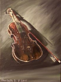 Ölmalerei, Musik, Alt, Geige