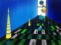 Absturz, Eu, Acrylmalerei, Raum