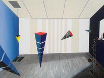 Acrylmalerei, Abstrakt, Surreal, Malerei