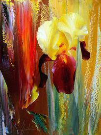 Iris, Malerei, Rot, Abstrakte landschaft
