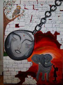 Kraft, Acrylmalerei, Gelassenheit, Poesie