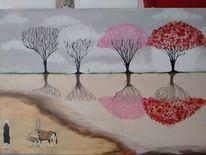 Menschen, Tiere, Baum, Landschaft