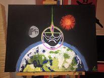 Blitz, Potter, Erde, Mond