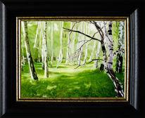 Malerei, Sommer, Himmel, Grün
