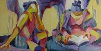 Strand, Diptychon, Malen, Malerei