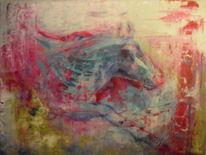 Acrylmalerei, 2013, Tiere, Abstrakt
