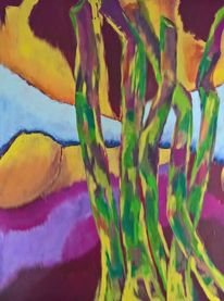 Wald, Gelb, Grün, Malerei